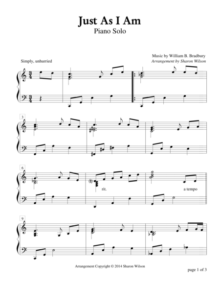 Just as i am music pdf