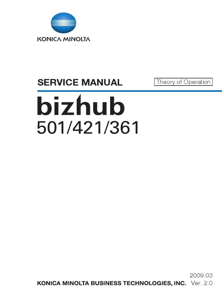 konica minolta bizhub 206 service manual