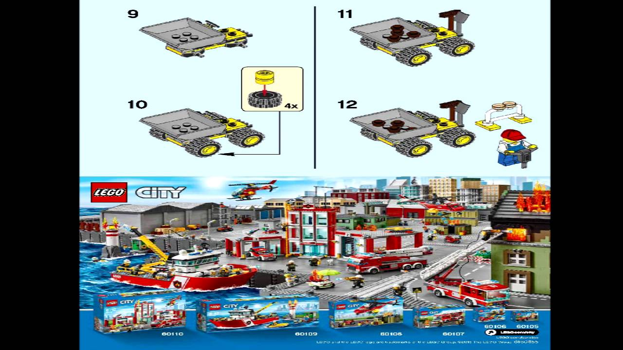 lego mini fire helicopter instructions