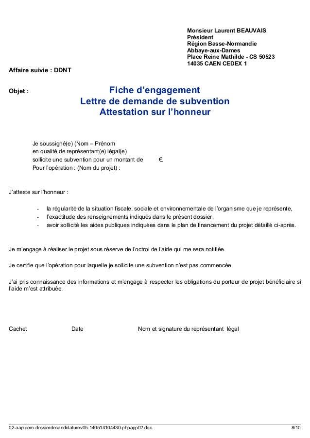 Lettre d engagement exemple pdf