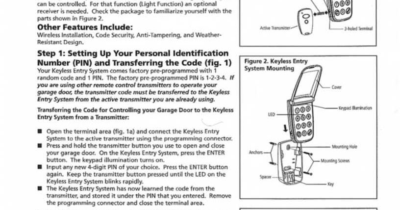 marantec keypad programming instructions