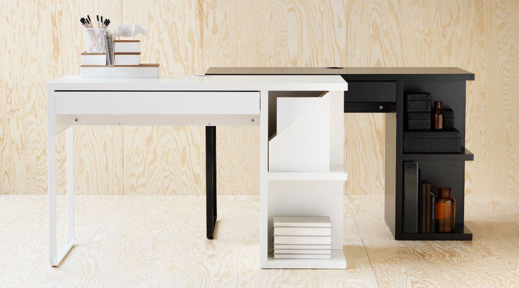 micke desk with integrated storage assembly manual