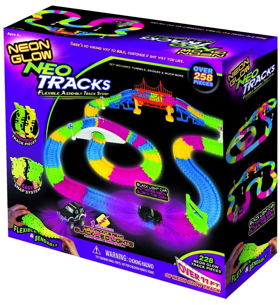 neon glow twister tracks instructions