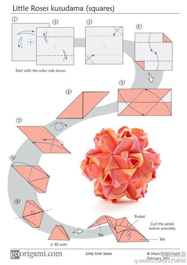 origami christmas ball instructions