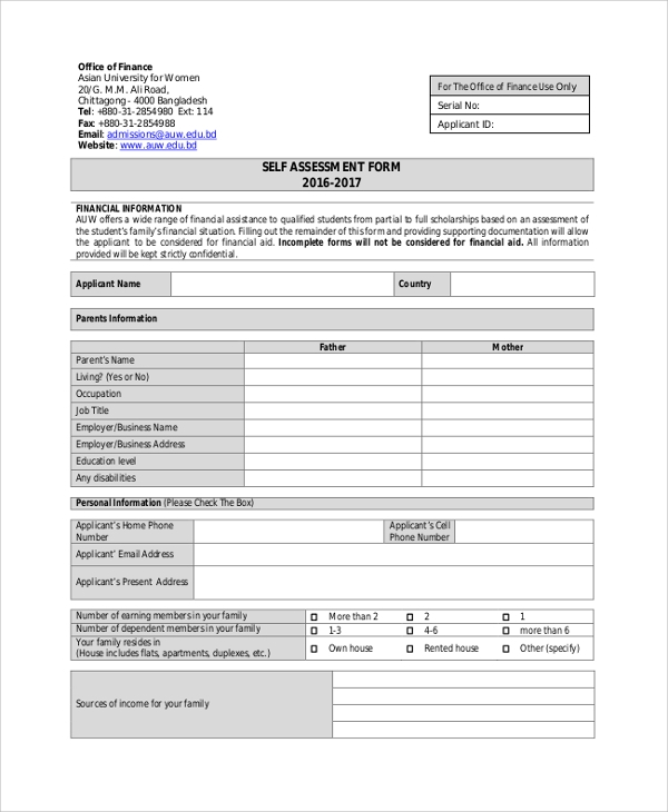 Overseas income assessment form ovfa pdf