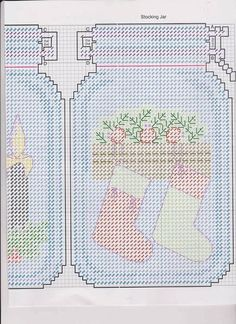 patterns and pictures and instruction of plastic canvas mason jars