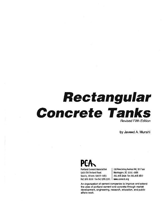 pca rectangular concrete tanks design manual pdf