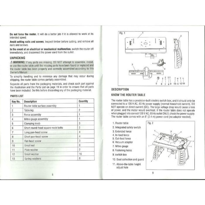 Performax plunge router instruction manual