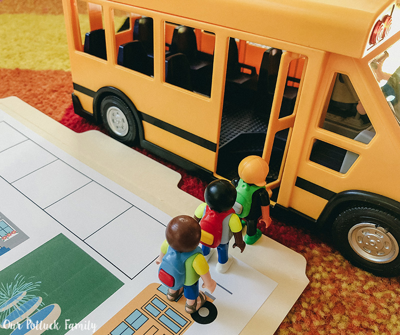 playmobil school bus instructions