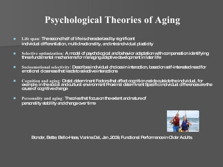 Psychological theories of aging pdf