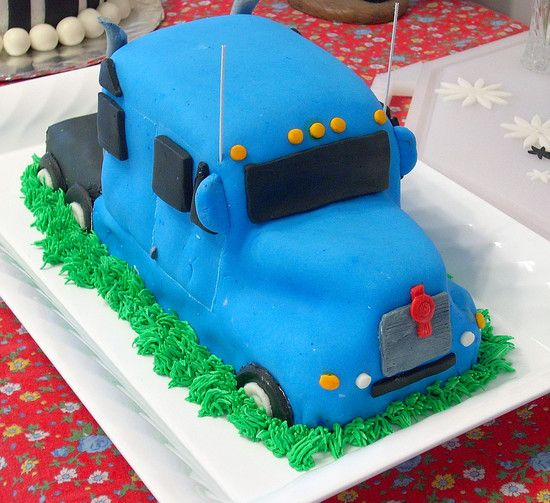 Semi truck cake instructions