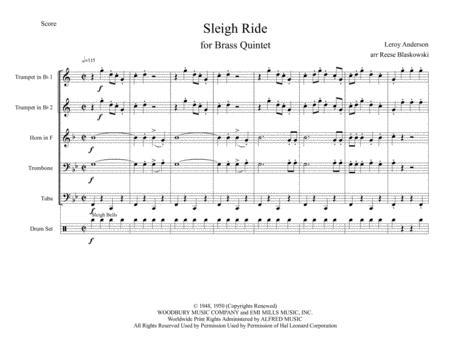 Sleigh ride leroy anderson pdf
