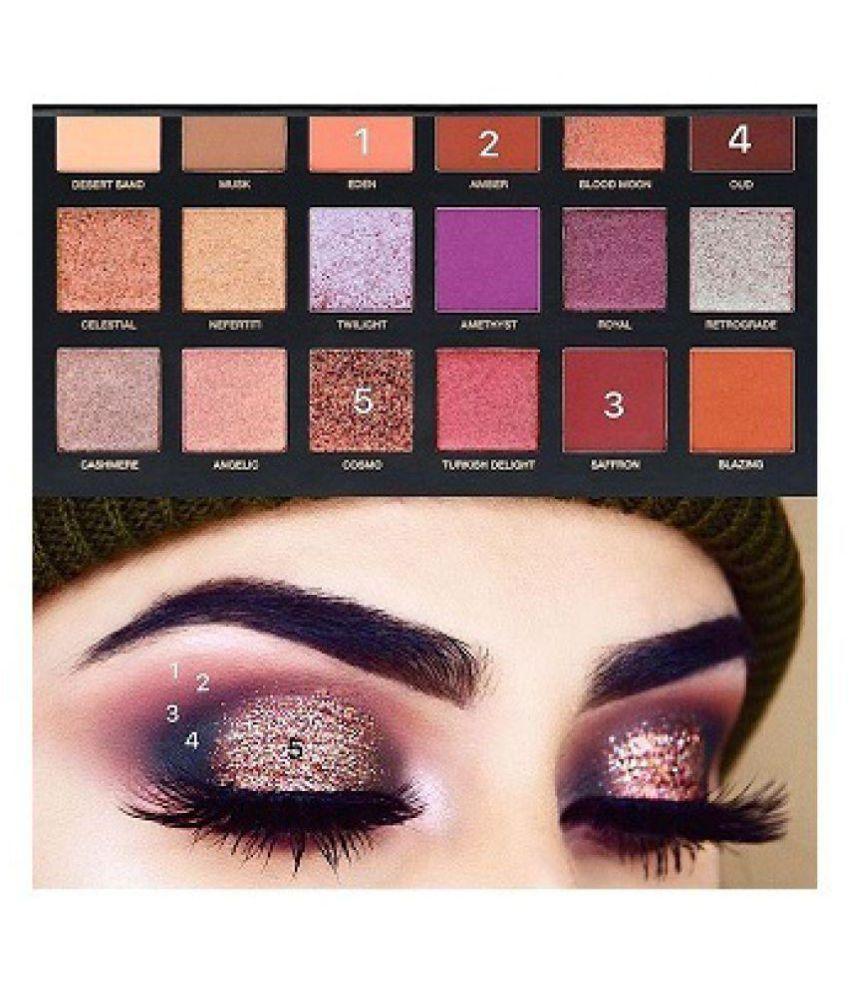 Step by step huda rose gold eyeshadow application