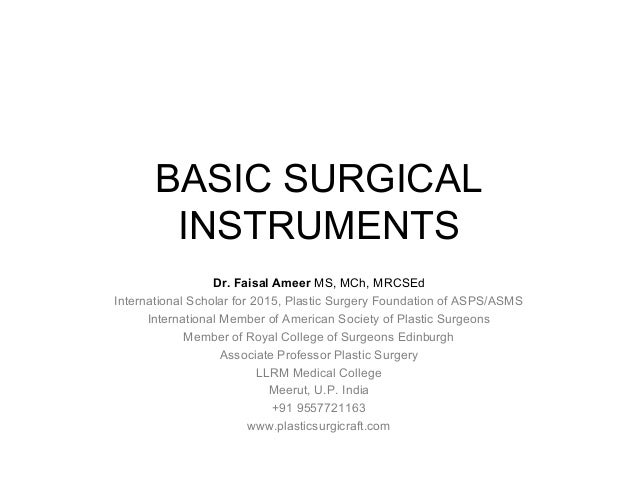 Surgical instruments pictures and names pdf