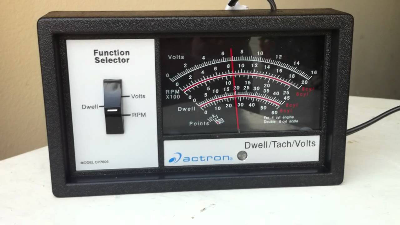 tach dwell meter instructions