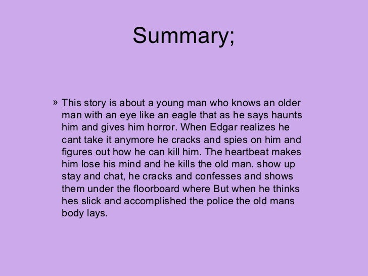 Tell tale heart summary pdf