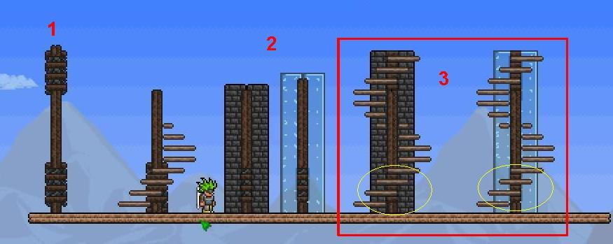 Terraria how to build walls