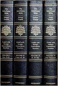 The interlinear hebrew greek english bible one volume edition pdf