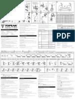 topeak comp 150 instruction manual