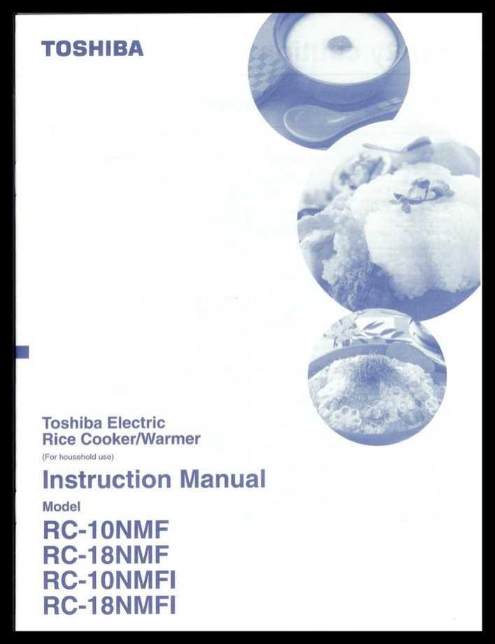 Toshiba rice cooker rc 5ms manual