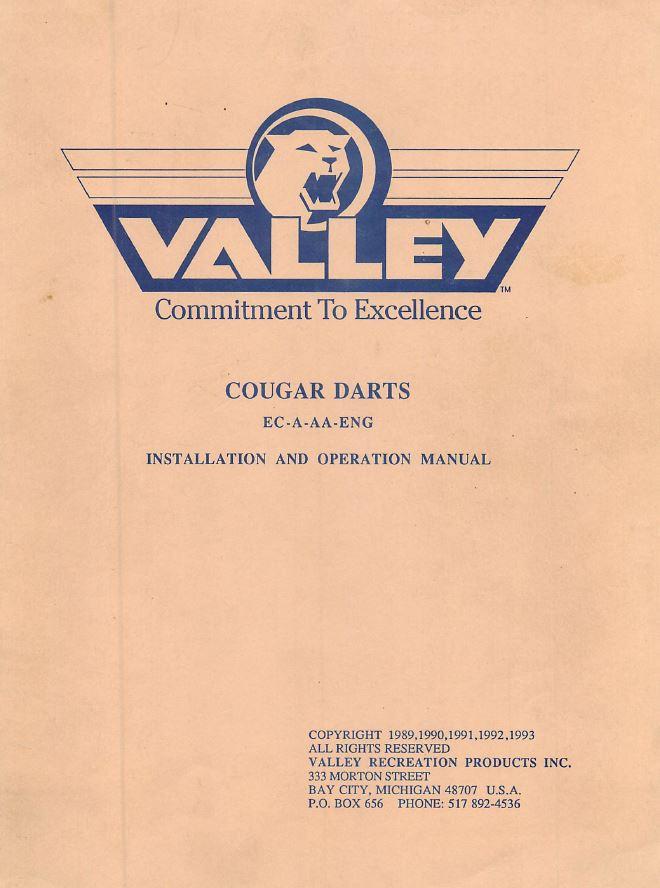 Valley cougar dart board manual pdf