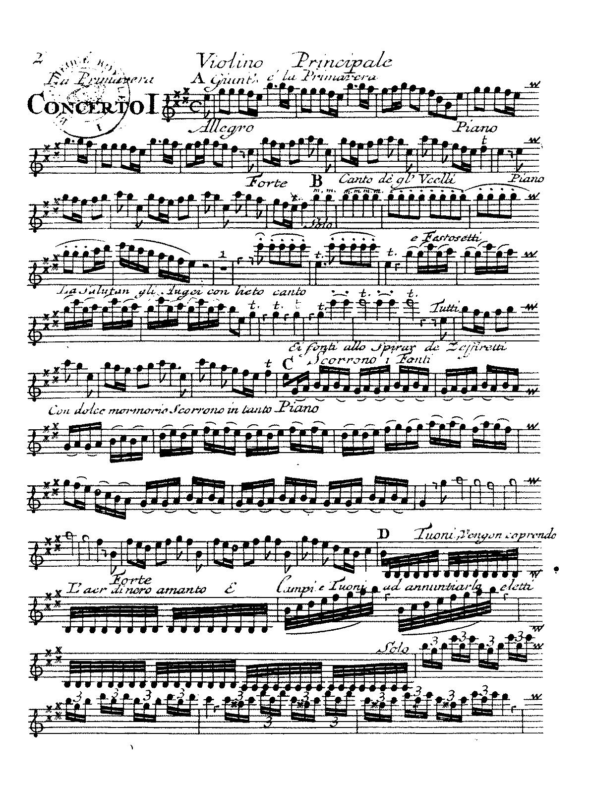 Vivaldi summer violin solo pdf